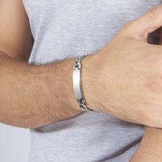 Bracelet Ludo Maille Gourmette Acier Blanc - Gourmettes Homme | Marc Orian