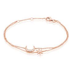 Bracelet Lannah Argent Rose Oxyde De Zirconium - Bracelets chaînes Femme   Marc Orian