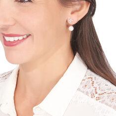 Bijoux D'oreilles Norah Or Jaune Perle De Culture Et Oxyde - Boucles d'oreilles Ear cuffs Femme | Marc Orian