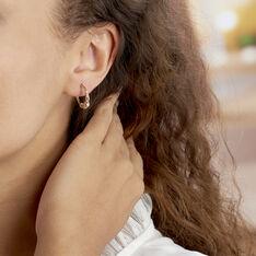 Créoles Tehanie Plaque Or Jaune - Boucles d'oreilles Créoles Famille | Marc Orian