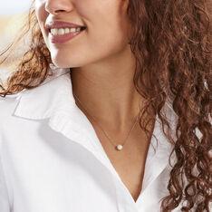 Collier Sissy Or Blanc Perle De Culture - Parure de mariage Femme   Marc Orian