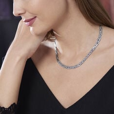 Chaine Argent Maille Tresse - Colliers Femme | Marc Orian