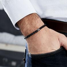 Bracelet Genaelleae Acier Blanc Agate - Bracelets Homme | Marc Orian