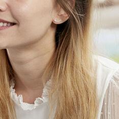 Bijoux D'oreilles Resa Or Jaune Oxyde De Zirconium - Boucles d'oreilles Ear cuffs Femme | Marc Orian