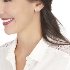 Créoles Danye Rondes Or Jaune Diamant - Boucles d'oreilles Créoles Femme   Marc Orian