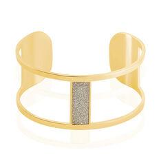 Bracelet Jonc Aness Acier Jaune - Bracelets jonc Femme | Marc Orian