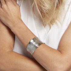 Bracelet Manchette Alesia Acier Blanc - Bracelets manchettes Femme | Marc Orian