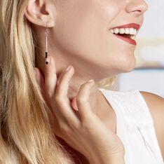 Boucles D'oreilles Pendantes Elisane Argent Blanc Pierre De Synthese - Boucles d'oreilles Pendantes Femme   Marc Orian