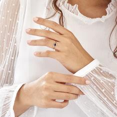 Bague Or Blanc Camilia Saphir - Bagues Solitaire Femme | Marc Orian