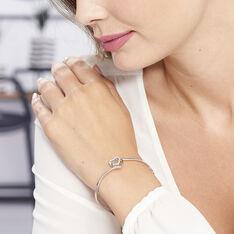 Bracelet Jonc Veronike Argent Blanc Oxyde De Zirconium - Bracelets jonc Femme | Marc Orian