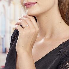Bague Solitaire Aniela Plaque Or Jaune Oxyde De Zirconium - Bagues Solitaire Femme | Marc Orian