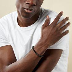 Bracelet Hugues Acier Blanc Agate - Bracelets chaînes Homme | Marc Orian