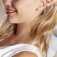 Boucles D'oreilles Puces Sadya Or Jaune Oxyde De Zirconium - Clous d'oreilles Femme | Marc Orian