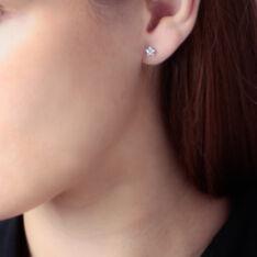 Boucles D'oreilles Or Jaune Etoile Oxydes - Clous d'oreilles Femme | Marc Orian
