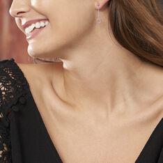 Boucles D'oreilles Pendantes Peytone Argent Blanc - Boucles d'oreilles Pendantes Femme | Marc Orian