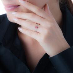 Bague Maura Or Blanc Rubis Et Diamant - Bagues Femme | Marc Orian