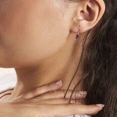 Boucles D'oreilles Pendantes Kalyne Or Jaune Amethyste - Boucles d'oreilles Pendantes Femme | Marc Orian