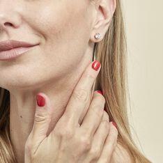 Boucles D'oreilles Puces Yoëlle Plaque Or Jaune Oxyde De Zirconium - Clous d'oreilles Femme | Marc Orian