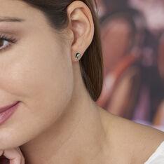 Boucles D'oreilles Puces Acacia Argent Blanc Ambre - Clous d'oreilles Femme | Marc Orian