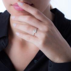 Bague Trilogie Or Blanc Diamant - Bagues fiançailles Femme | Marc Orian