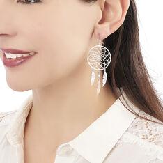 Boucles D'oreilles Argent Rhodie Misalie - Boucles d'oreilles Pendantes Femme | Marc Orian