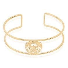 Bracelet Jonc Liona Plaque Or Jaune - Bracelets fantaisie Femme | Marc Orian