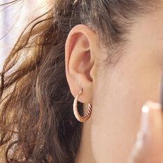 Créoles Asael Argent Rose - Boucles d'oreilles Créoles Femme   Marc Orian