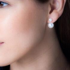 Bijoux D'oreilles Metisse Or Jaune Perle De Culture - Boucles d'oreilles Ear cuffs Femme | Marc Orian