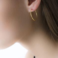 Créoles Dominae Flexible Or Jaune - Boucles d'oreilles Créoles Femme | Marc Orian