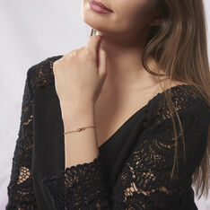 Bracelet Plaque Or Ajna Forme Infini - Bracelets chaînes Femme | Marc Orian