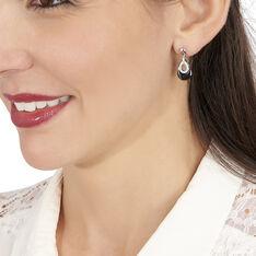 Boucles D'oreilles Pendantes Héléane Argent Céramique Et Oxyde - Boucles d'oreilles Pendantes Femme | Marc Orian