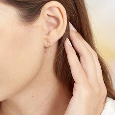 Boucles D'oreilles Pendantes Alphonsine Etoile Or Jaune - Boucles d'oreilles Pendantes Femme   Marc Orian