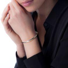 Bracelet Jonc Catalin 2 Fils Flexibles Or Bicolore - Bracelets jonc Femme | Marc Orian