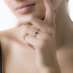 Bague Tanissia Or Blanc Saphir Et Diamant - Bagues Solitaire Femme | Marc Orian