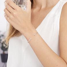 Bracelet Jonc Regine Argent Blanc Oxyde De Zirconium - Bracelets fantaisie Femme   Marc Orian