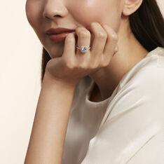 Bague Solitaire Soa Argent Blanc Oxyde De Zirconium - Bagues Solitaire Femme   Marc Orian
