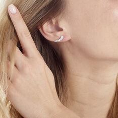 Bijoux D'oreilles Aldrick Argent Blanc Oxyde De Zirconium - Boucles d'oreilles Ear cuffs Femme | Marc Orian