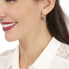 Boucles D'oreilles Pendantes Elitivae Or Blanc Perle De Tahiti - Boucles d'oreilles Pendantes Femme   Marc Orian