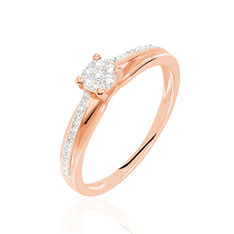 Bague Kate Or Rose Diamants - Bagues Solitaire Femme | Marc Orian