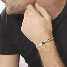 Bracelet Identité Clement Maille Gourmette Plaque Or Jaune - Gourmettes Homme   Marc Orian