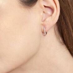 Creoles Or Blanc Aryanna Diamants - Boucles d'oreilles Créoles Femme | Marc Orian