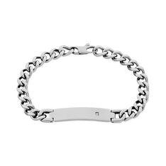 Bracelet Hugo Acier Blanc - Bracelets chaînes Homme | Marc Orian