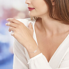 Bracelet Alicia Argent Blanc Céramique - Bracelets chaînes Femme | Marc Orian