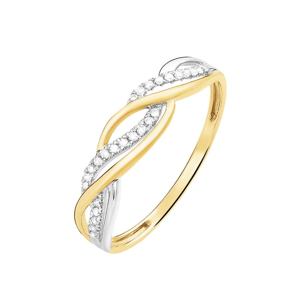 Bague Romane Or Jaune Diamant - Bagues Femme   Marc Orian