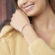 Bracelet Jonc Colleen Argent Blanc Oxyde De Zirconium - Bracelets jonc Femme | Marc Orian