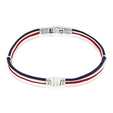 Bracelet Floryseae Acier Blanc - Bracelets cordons Homme | Marc Orian