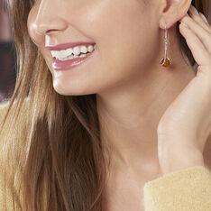 Boucles D'oreilles Pendantes Simona Argent Blanc Ambre - Boucles d'oreilles Pendantes Femme | Marc Orian