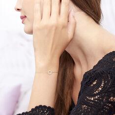 Bracelet Lim Or Jaune Oxyde De Zirconium - Bracelets chaînes Femme | Marc Orian