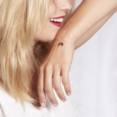 Bracelet Solange Or Jaune Onyx - Bracelets chaînes Femme | Marc Orian