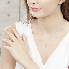 Collier Clothilde Or Blanc Topaze Et Diamant - Colliers Femme   Marc Orian
